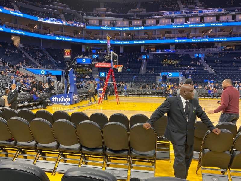 Seating view for Chase Center Section 4 Row A3 Seat 18