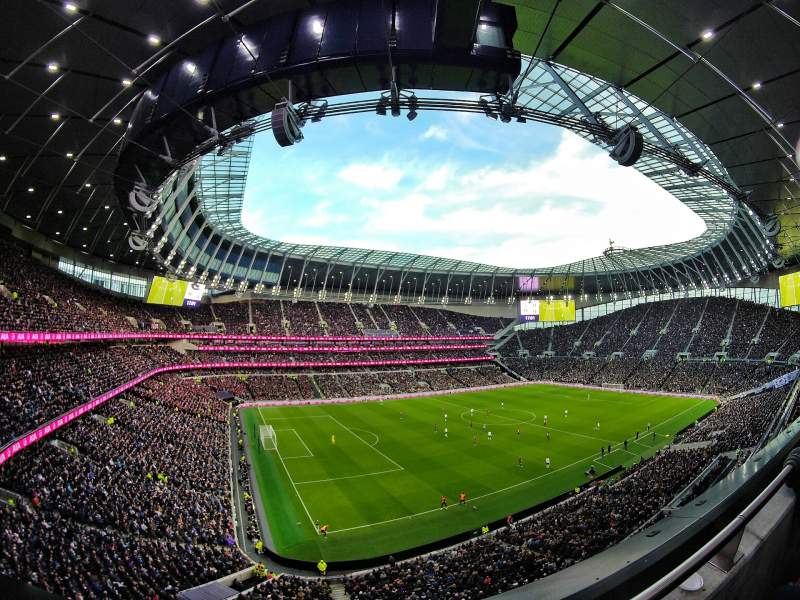 Seating view for Tottenham Hotspur Stadium Section 509 Row 1 Seat 297
