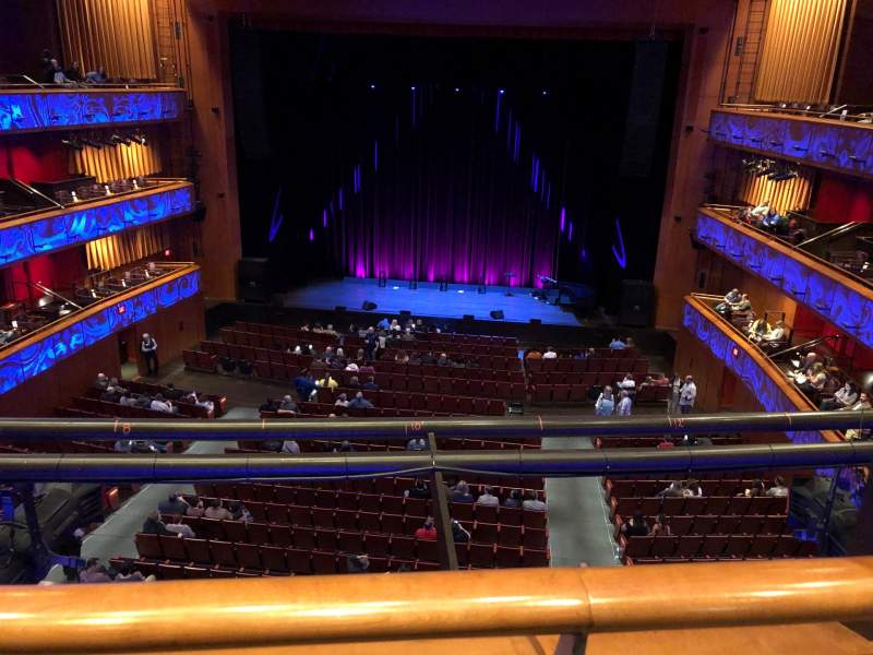 Seating view for Tobin Center for Performing Arts Section Center Mezzanine Row A Seat 114