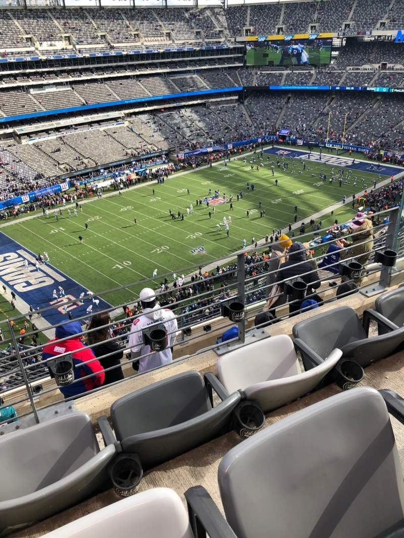 Seating view for MetLife Stadium Section 344 Row 7 Seat 6