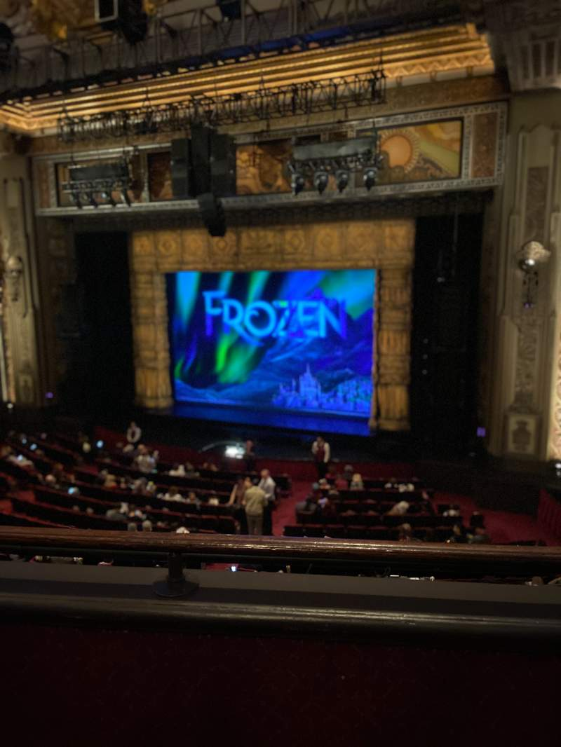Seating view for Hollywood Pantages Theatre Section Mezzanine RC Row B Seat 212