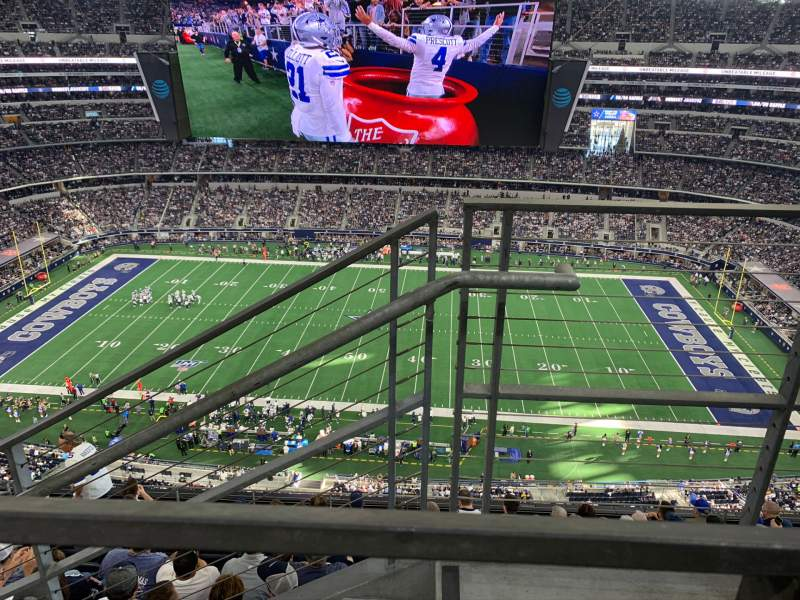 Seating view for AT&T Stadium Section 442 Row 9 Seat 1