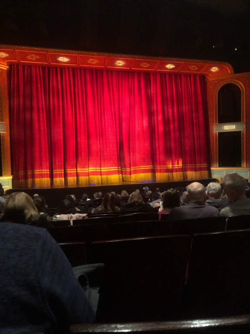 Seating view for Marquis Theatre Section Orchestra C Row Q Seat 106
