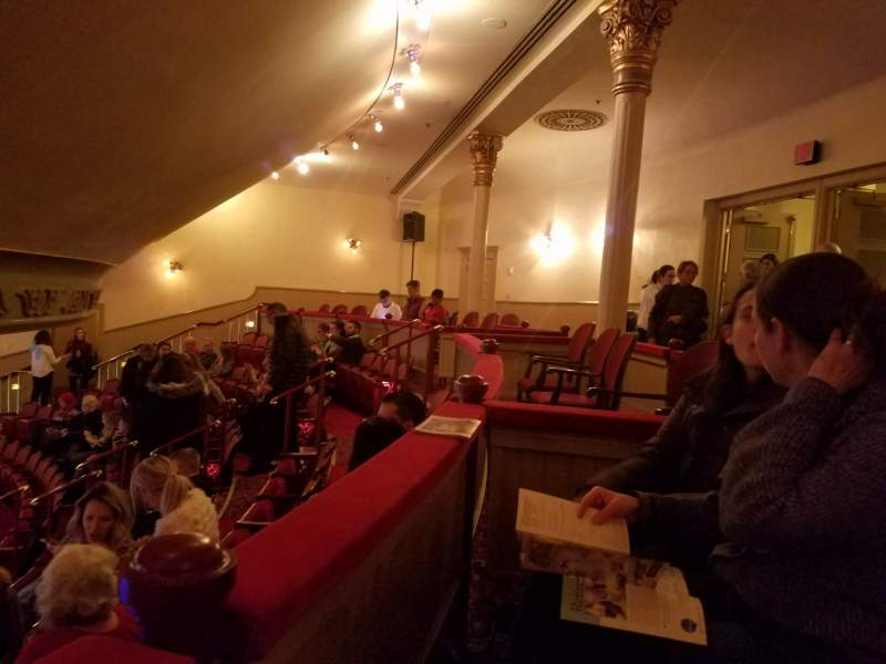 Seating view for Fulton Opera House Section mezzanine Row H Seat 19