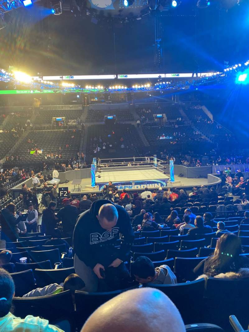 Seating view for Barclays Center Section 8 Row 11 Seat 14