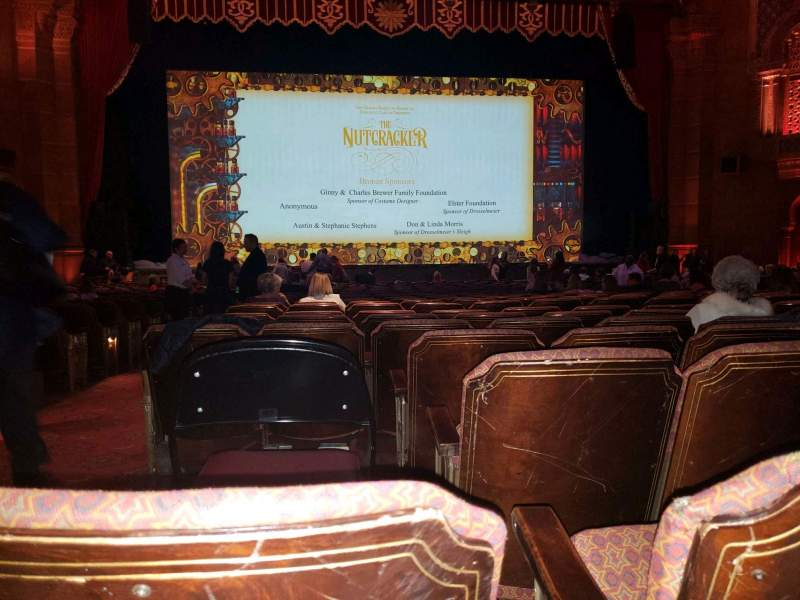 Seating view for Fox Theatre (Atlanta) Section orchestra c Row y Seat 113