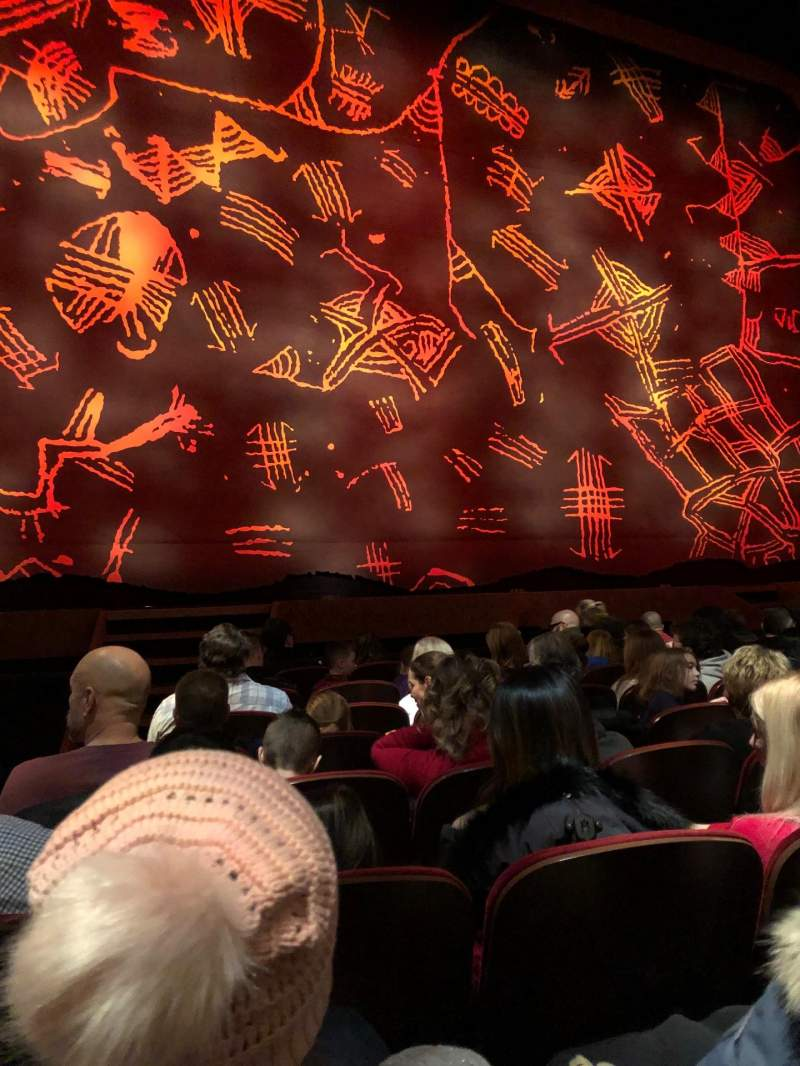 Seating view for Minskoff Theatre Section Orchestra L Row H Seat 102