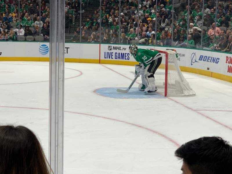 Seating view for American Airlines Center Section 104 Row C Seat 8