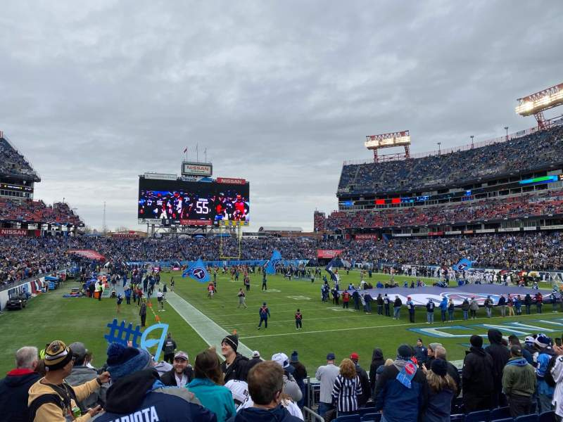 Seating view for Nissan Stadium Section 127 Row N Seat 1