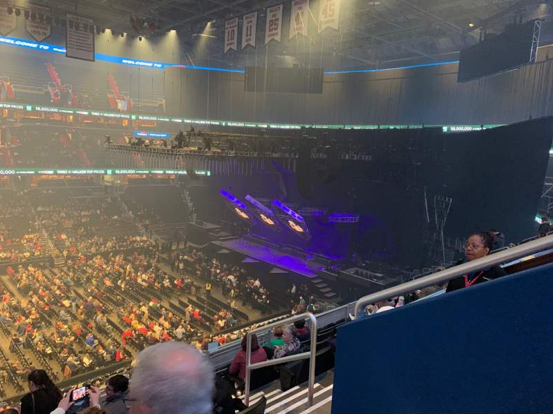 Seating view for Capital One Arena Section 214 Row J Seat 11