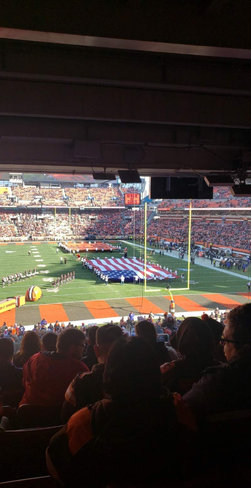 Seating view for FirstEnergy Stadium Section 146 Row 40 Seat 13