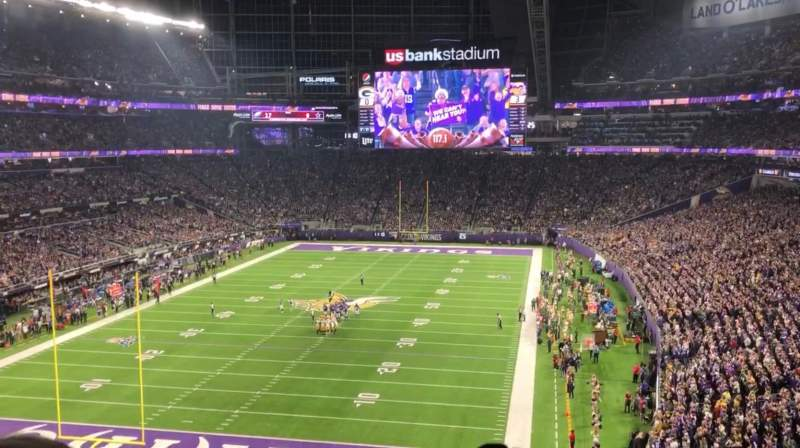 Seating view for U.S. Bank Stadium Section 221 Row 3 Seat 19