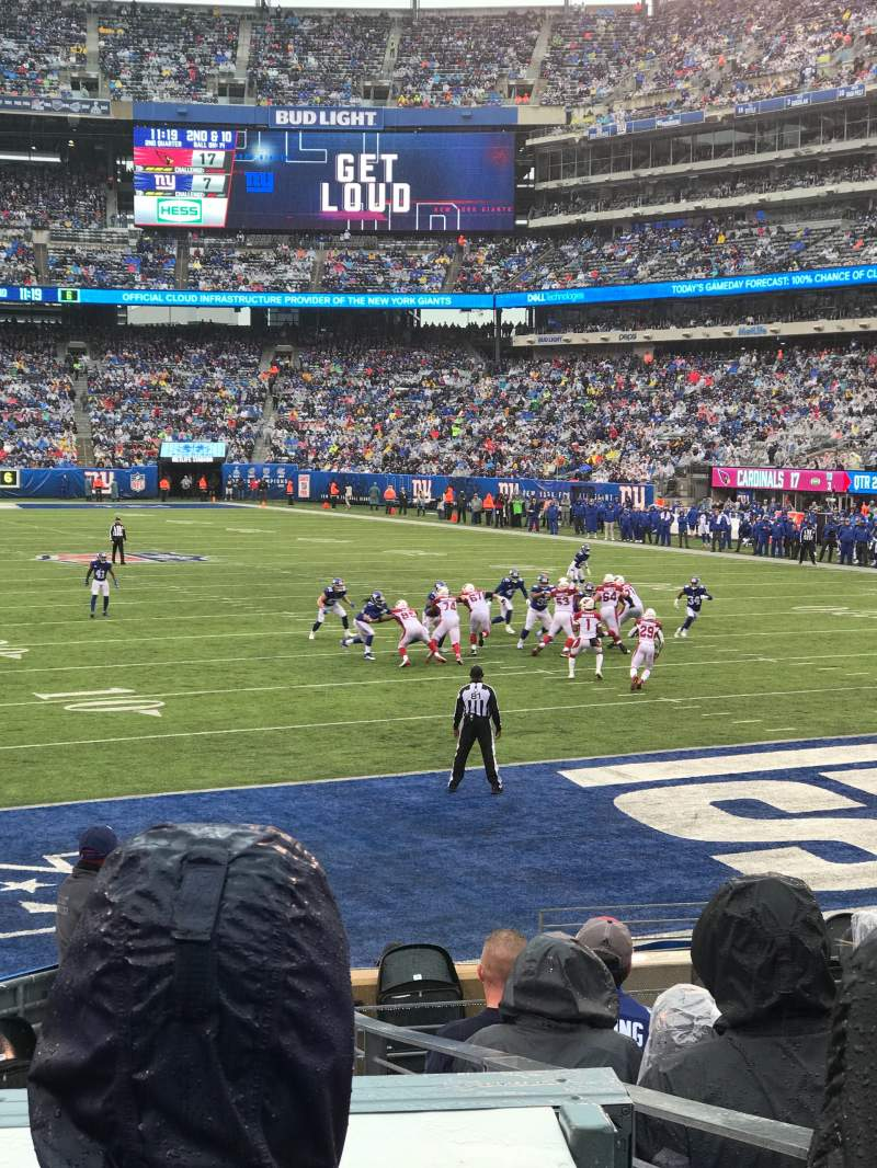Seating view for MetLife Stadium Section 129 Row 12 Seat 5