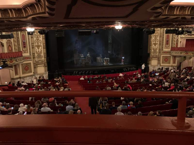 Seating view for Cadillac Palace Theater Section Dress Circle LC Row A Seat 202