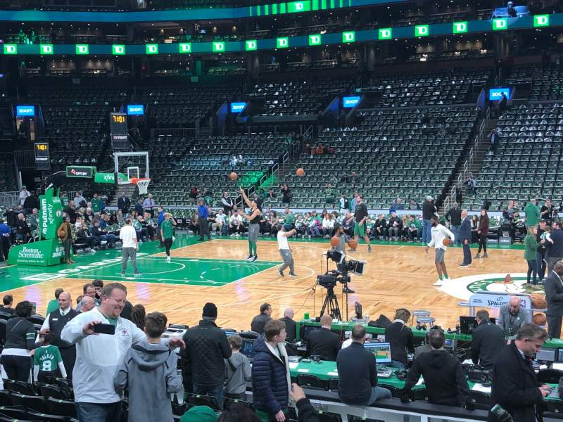 Seating view for TD Garden Section Loge 1 Row 11 Seat 6