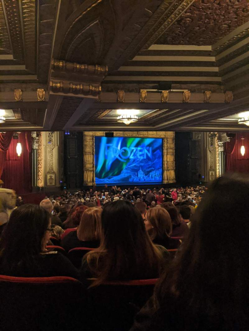 Seating view for Hollywood Pantages Theatre Section Orchestra L Row XX Seat 314