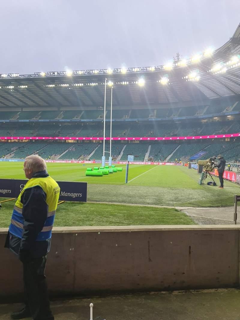 Seating view for Twickenham Stadium Section L2 Row 3 Seat 122