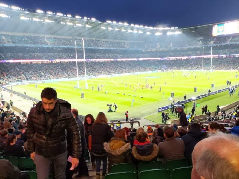 Seating view for Twickenham Stadium Section L11 Row 33 Seat 439