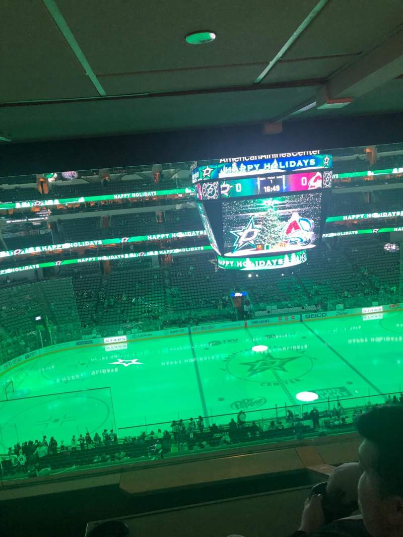 Seating view for American Airlines Center Section 1312