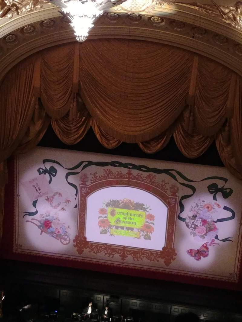 Seating view for War Memorial Opera House Section Balcony Center Row C Seat 118