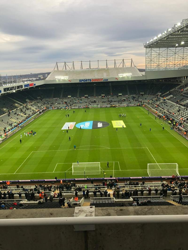 Seating view for St James' Park Section Away Row B Seat 428
