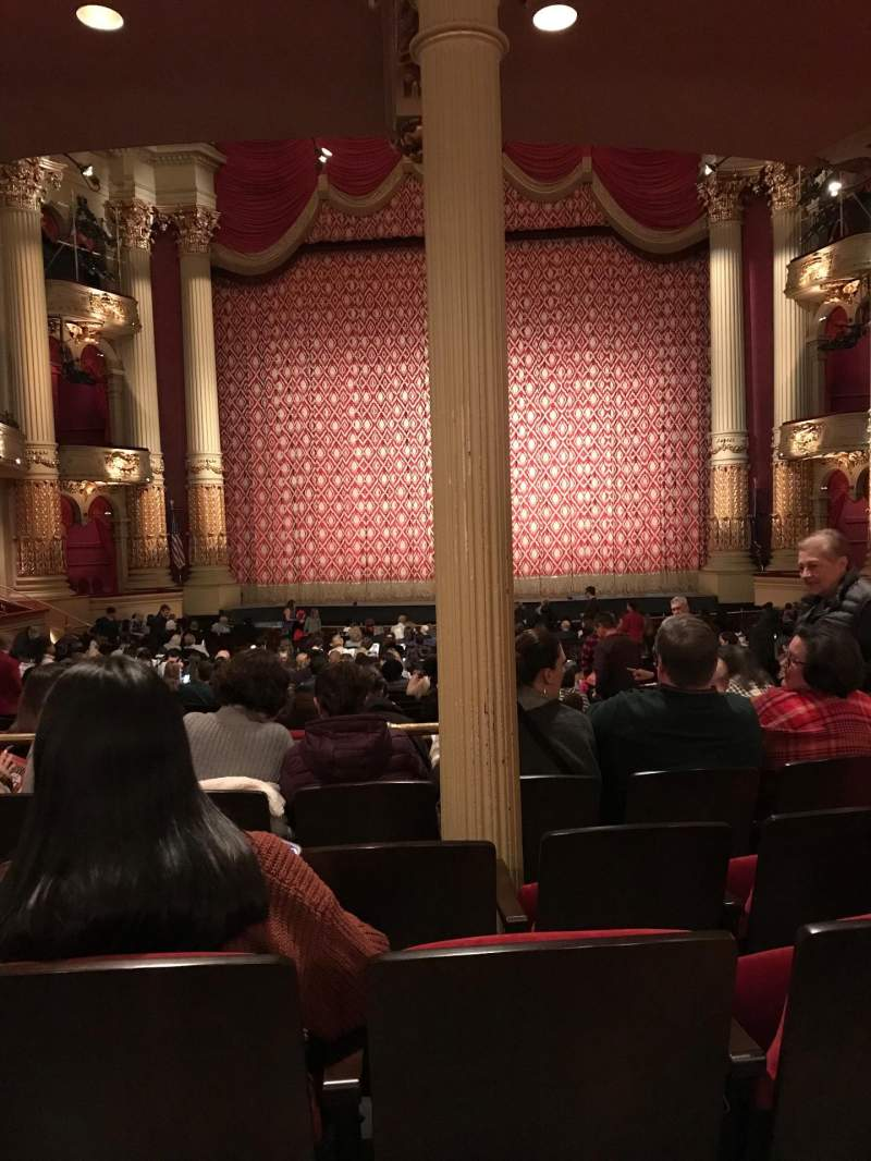 Seating view for Academy of Music Section Parquet circle E Row X Seat 104