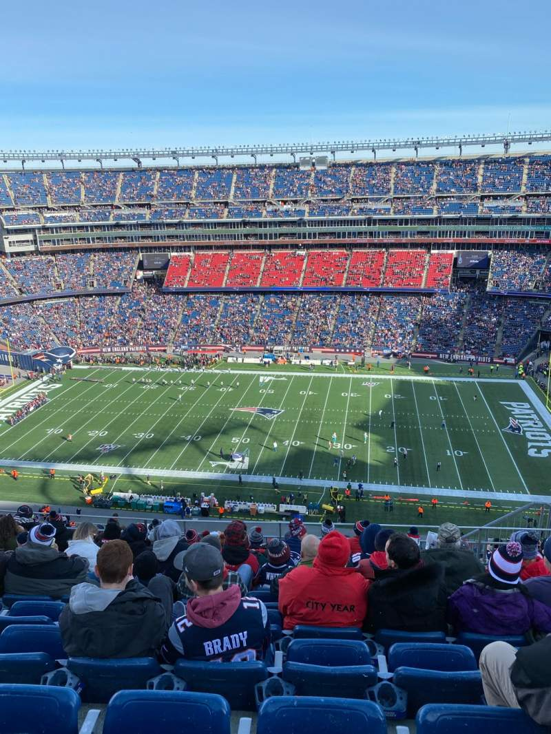 Seating view for Gillette Stadium Section 330 Row 16 Seat 8