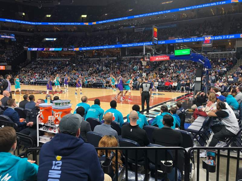 Seating view for FedEx Forum Section 107 Row E Seat 7