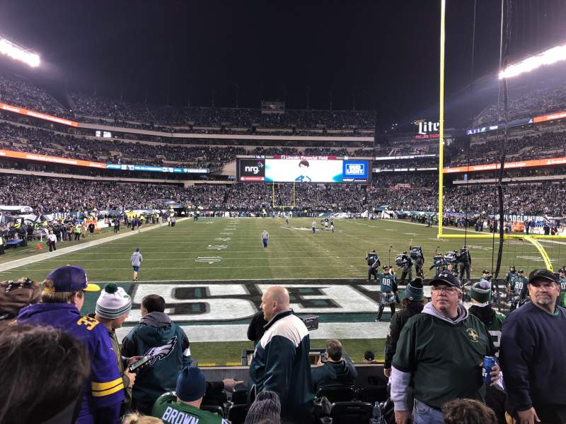 Seating view for Lincoln Financial Field Section 129 Row 8