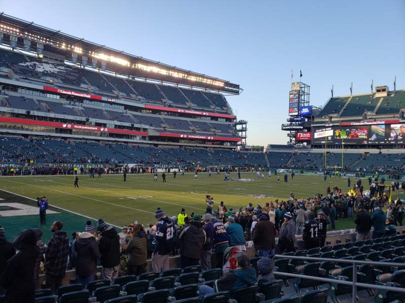 Seating view for Lincoln Financial Field Section 115 Row 9 Seat 8
