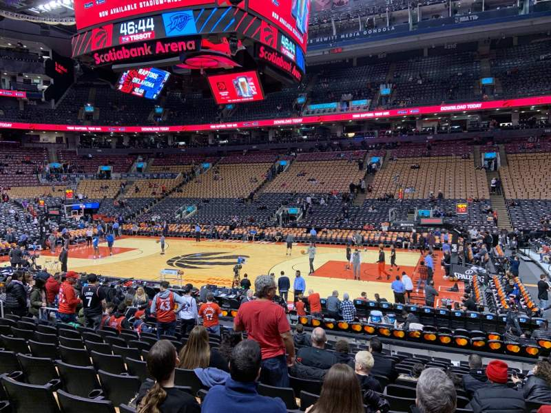 Seating view for Scotiabank Arena Section 118 Row 16 Seat 7
