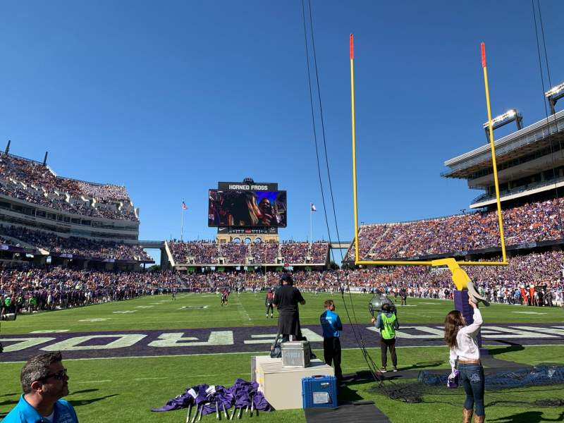 Seating view for Amon G. Carter Stadium Section 134 Row 1 Seat 14