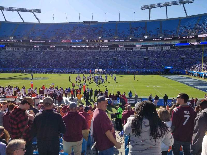 Seating view for Bank of America Stadium Section 109 Row 13 Seat 15