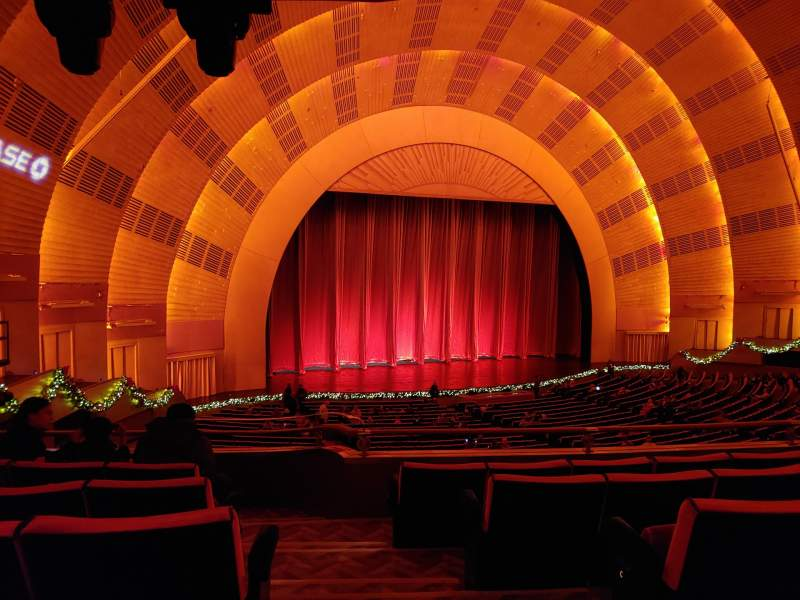 Seating view for Radio City Music Hall Section 1st Mezzanine 7 Row E Seat 701