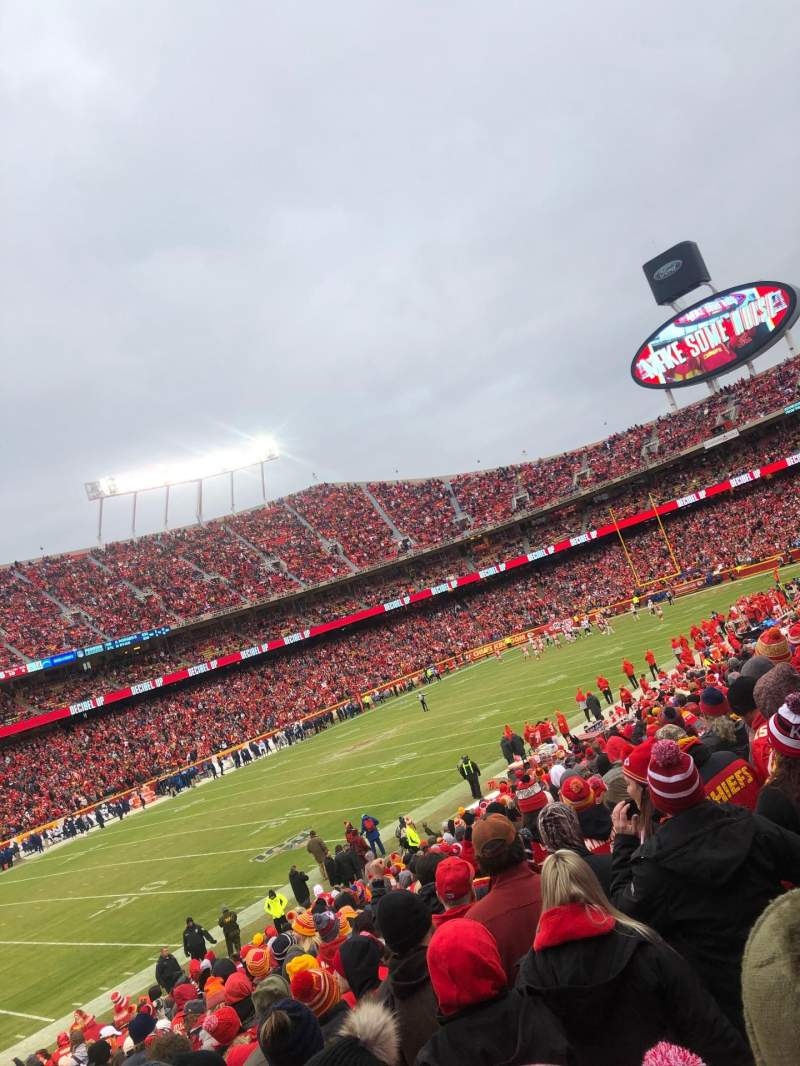 Seating view for Arrowhead Stadium Section 122 Row 24 Seat 26