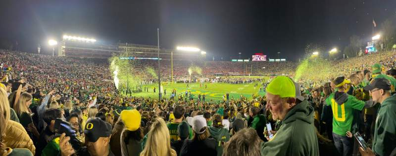 Seating view for Rose Bowl Section 28A Row 26