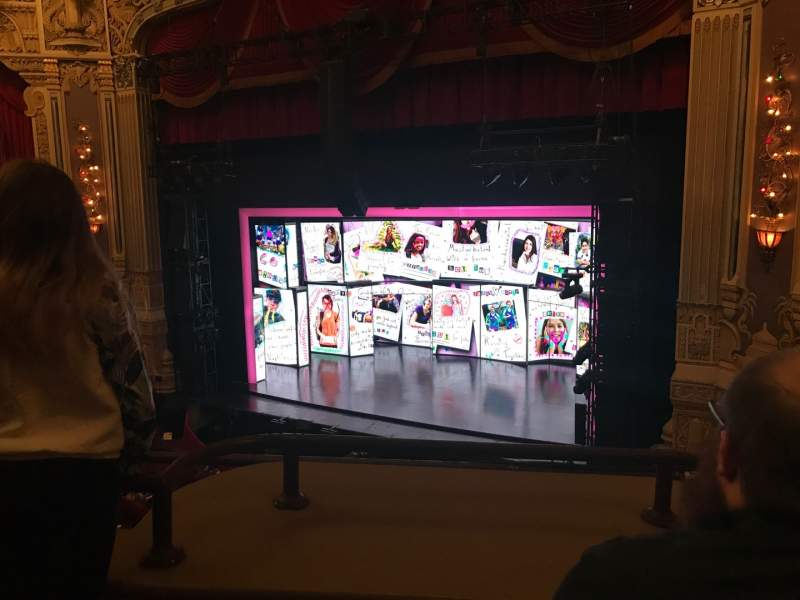 Seating view for James M. Nederlander Theatre Section Loge r Row B Seat 300