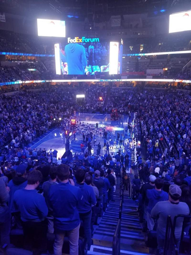 Seating view for FedEx Forum Section 101 Row EE Seat 6