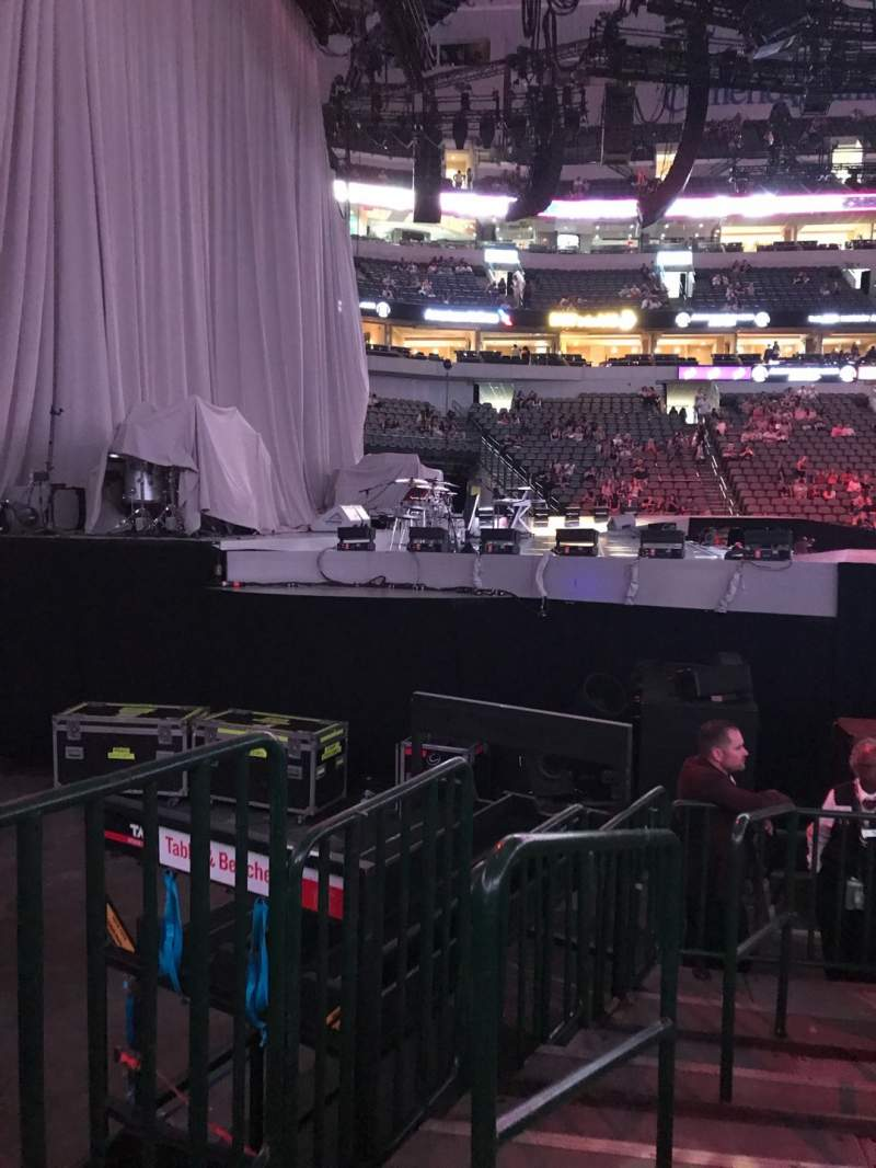 Seating view for American Airlines Center Section 121 Row F Seat 10