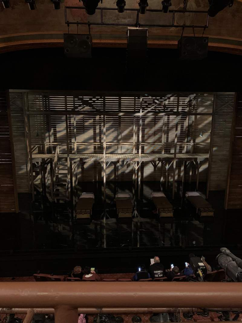 Seating view for American Airlines Theatre Section Front mezzanine Row A Seat 123