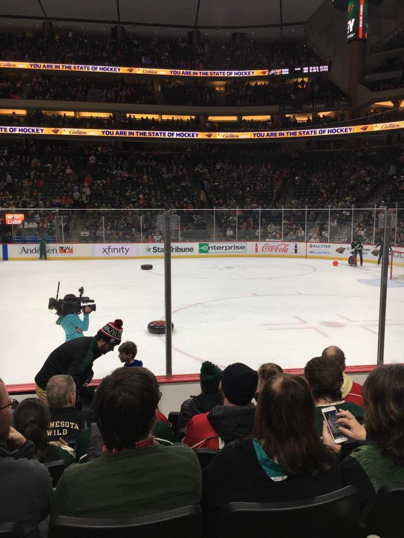 Seating view for Xcel Energy Center Section 102 Row 6 Seat 11