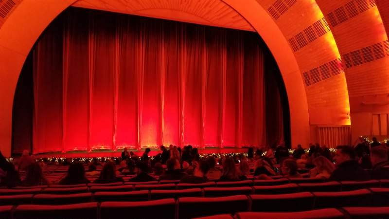 Seating view for Radio City Music Hall Section Orchestra 5 Row ZZ Seat 508