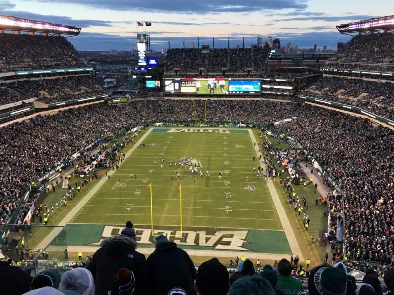 Seating view for Lincoln Financial Field Section 213 Row 12 Seat 14