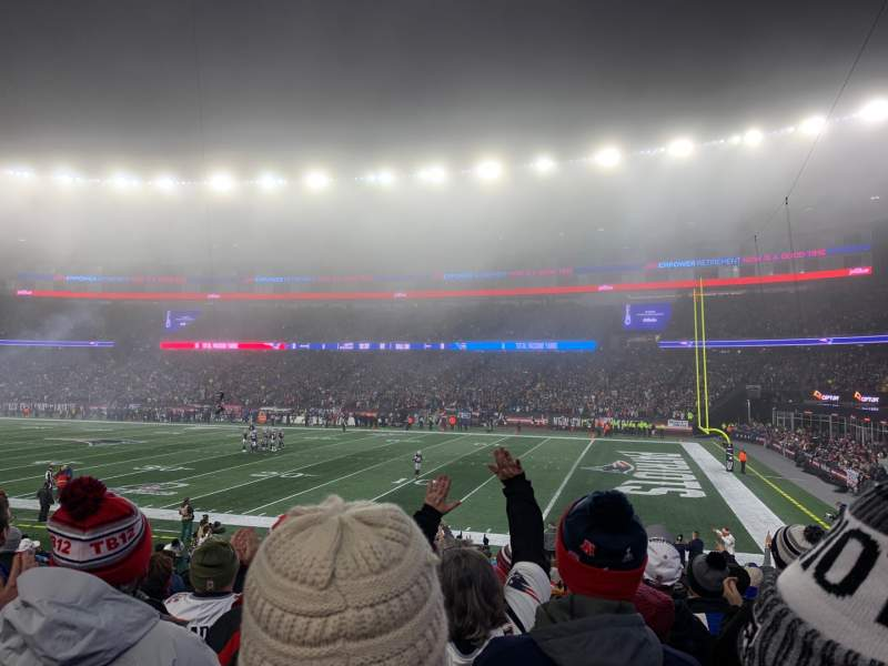 Seating view for Gillette Stadium Section 127 Row 18 Seat 9