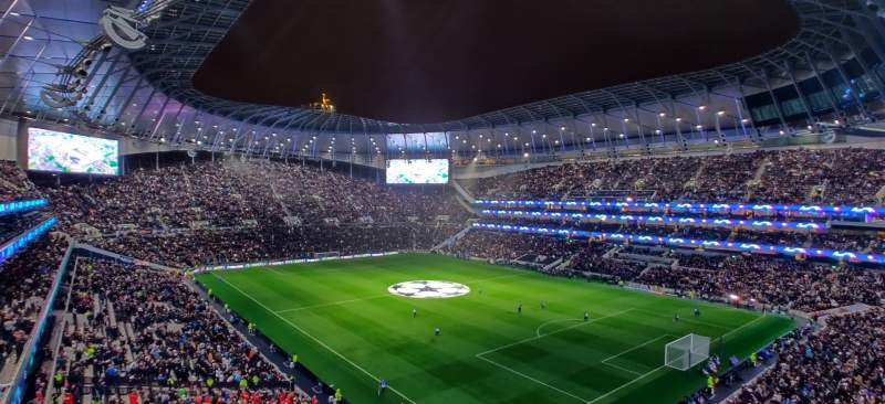 Seating view for Tottenham Hotspur Stadium Section 520 Row 2 Seat 648