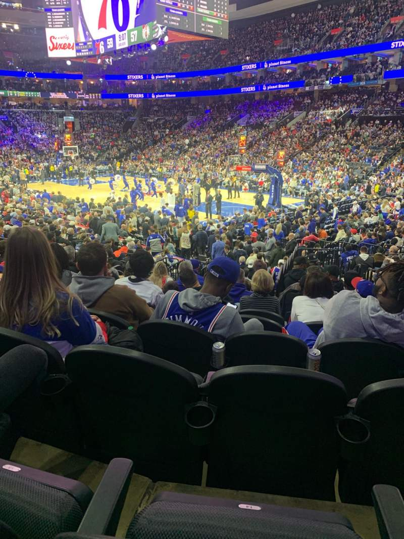 Seating view for Wells Fargo Center Section 104 Row 15 Seat 15