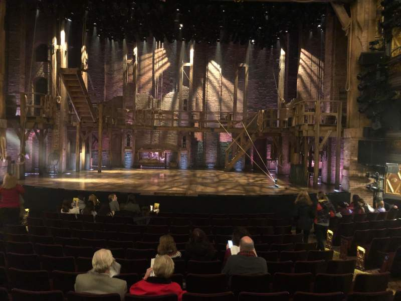 Seating view for Richard Rodgers Theatre Section Orchestra C Row M Seat 106