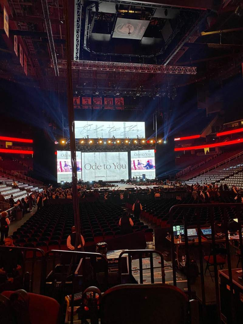 Seating view for Prudential Center Section 1 Row 3 Seat 1