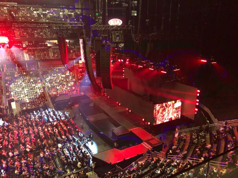 Seating view for State Farm Arena Section 208 Row B Seat 18