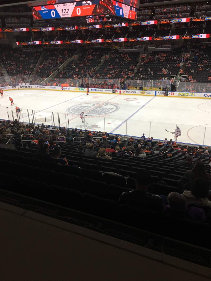 Seating view for Rogers Place Section 118 Row DRL Seat 3,4